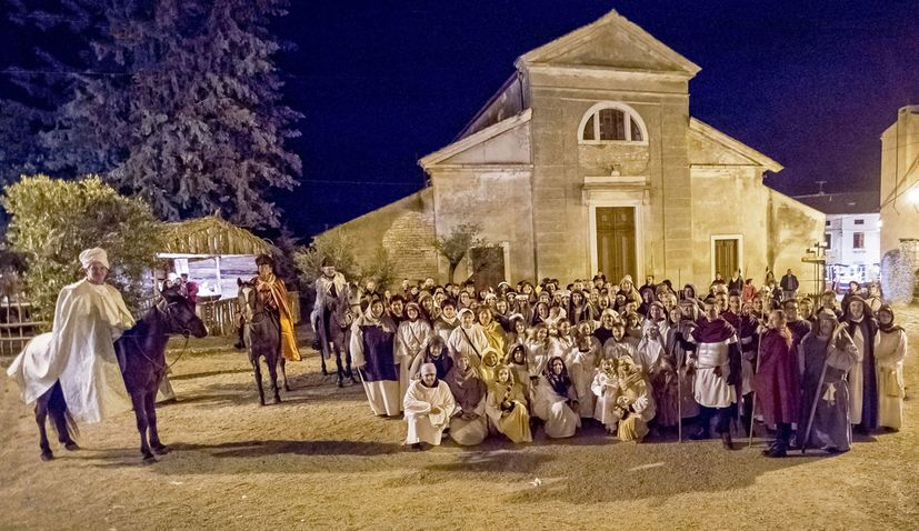 Largest live nativity scene recreation in Croatia takes place in Sveti Lovrec