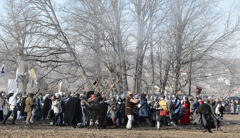 Seljacka buna reenactment in Donja Stubica on 8 Feb