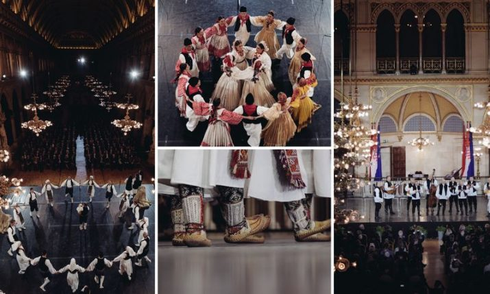 "PHOTOS: Croatian folklore ensemble ""LADO"" perform at famous Vienna City Hall"