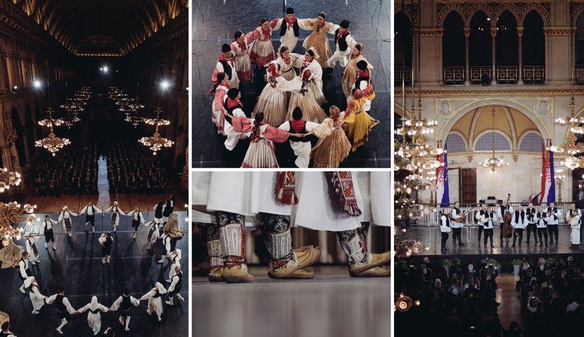 "PHOTOS: Croatian folklore ensemble ""LADO"" perform at famous Vienna City Hall"