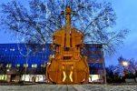PHOTOS: Giant playable violin erected in Varazdin