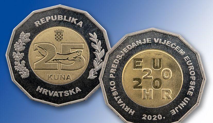 Commemorative 25 kuna coin issued to mark Croatia's EU presidency