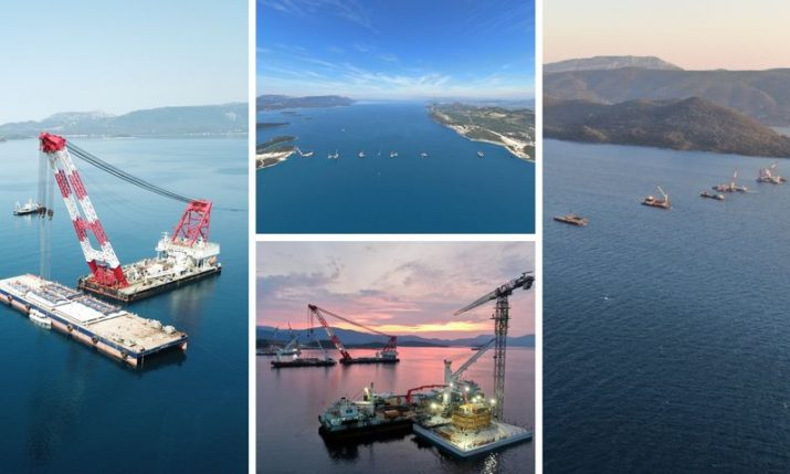 PHOTOS: Peljesac Bridge progressing at speed