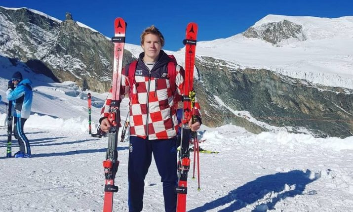Croatia's Filip Zubčić finishes second in World Cup giant slalom in Adelboden, Switzerland