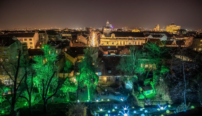 Festival of Lights in Zagreb in March