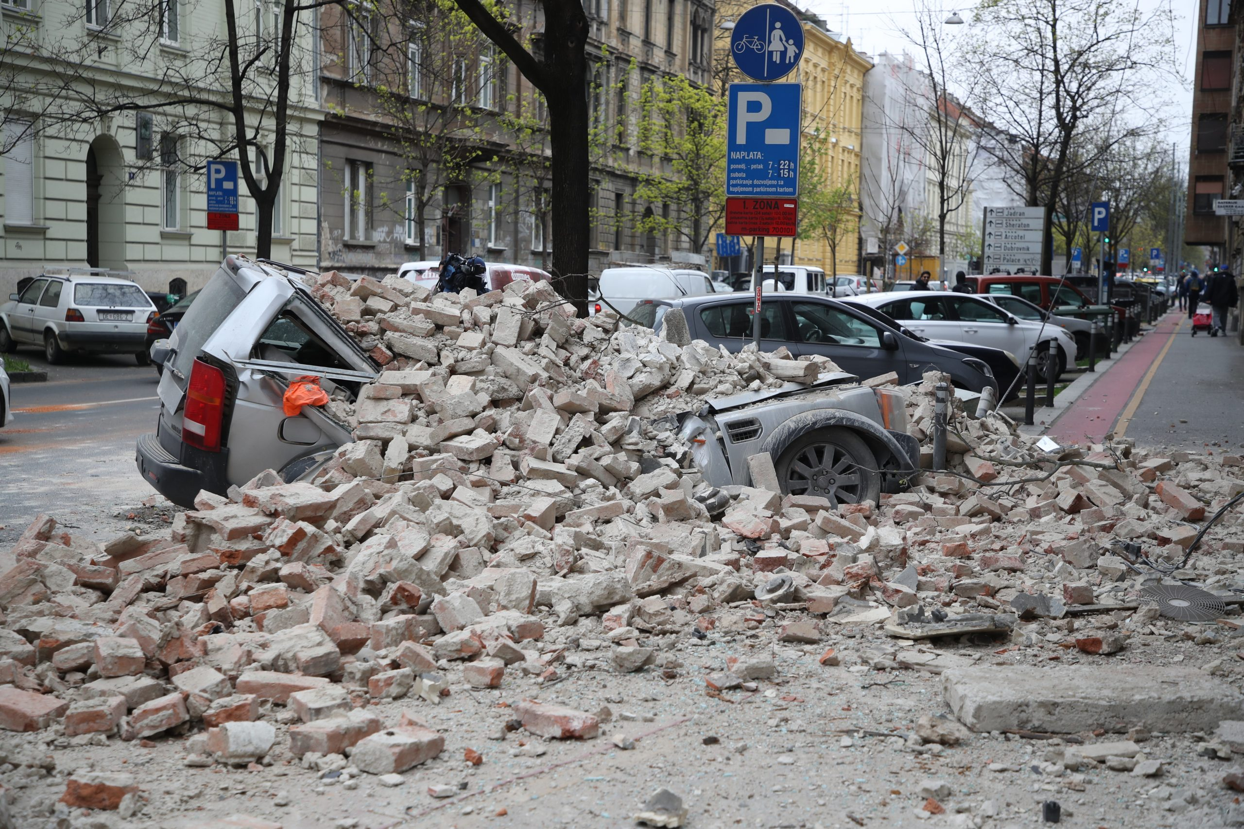 Photos Two Earthquakes Rock The Croatian Capital Zagreb Croatia Week
