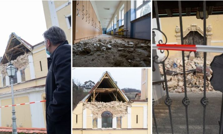 PM visits Markusevac and Cucerje, the epicentre of Zagreb's earthquake