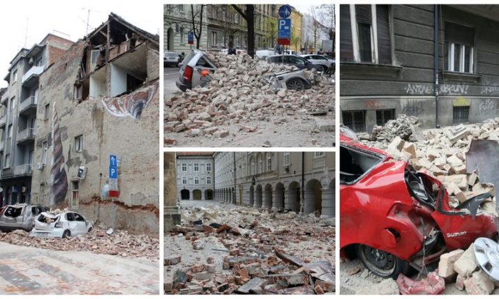 Zagreb earthquake measured at 5.5 on the Richter scale, strongest in 140 years
