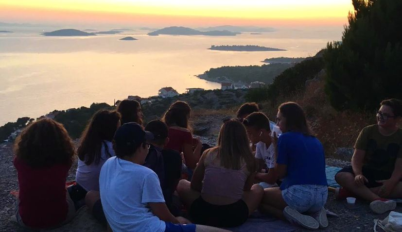 English writing and adventure camp for teens on Croatian island this summer
