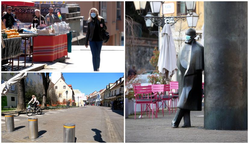 PHOTOS: Streets of the Croatian capital Zagreb as city comes to a halt