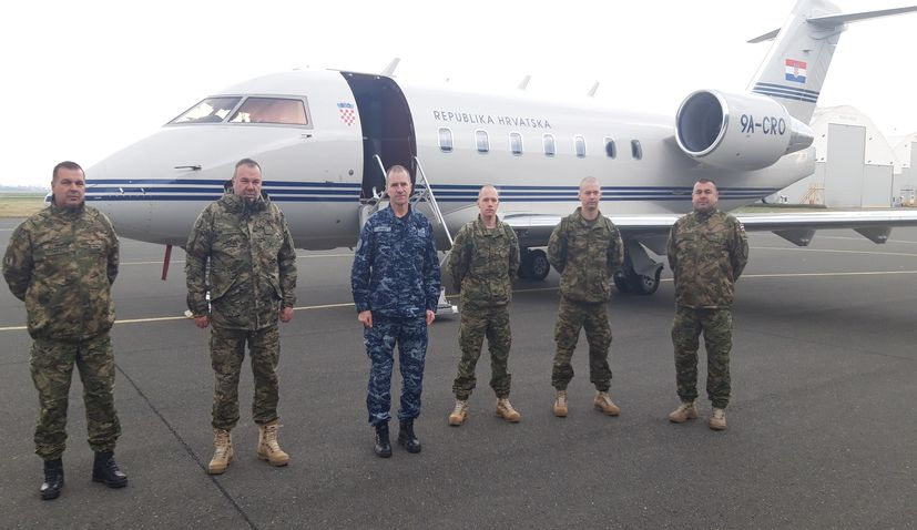 Medical team flown from Zagreb to Lithuania to help Croatian troops