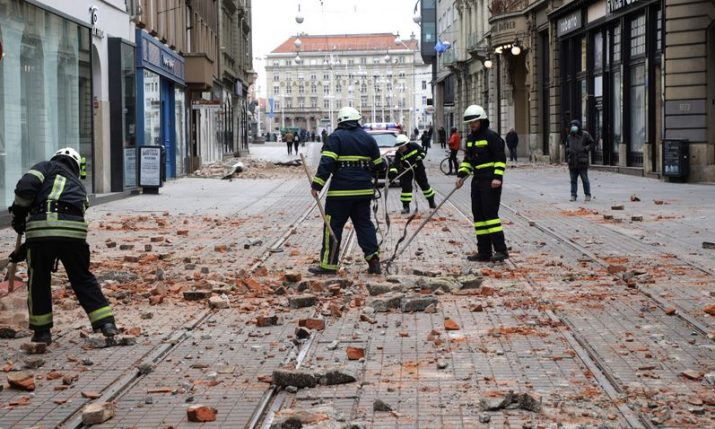 Zagreb firefighters make 544 interventions due to earthquake