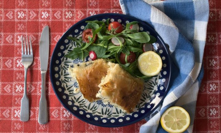 Croatian Recipes: Gužvara with Cheese and Swiss Chard