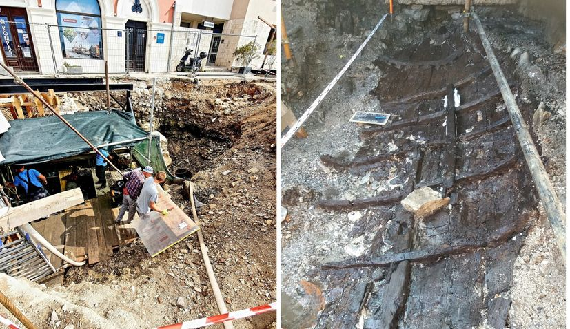 VIDEO: 2,000-year-old Roman sewn boat discovered under Porečwaterfront