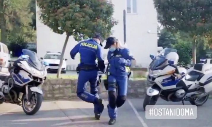 VIDEO: Croatian police dance a hit on social media