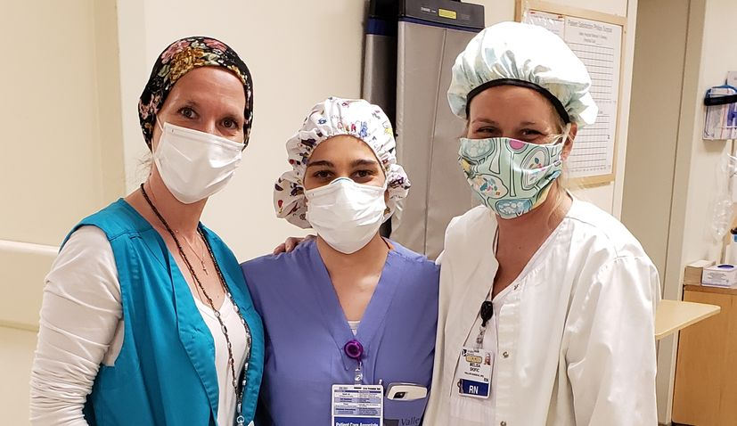 3 Croatian nurses together in a New Jersey hospital in the fight against coronavirus