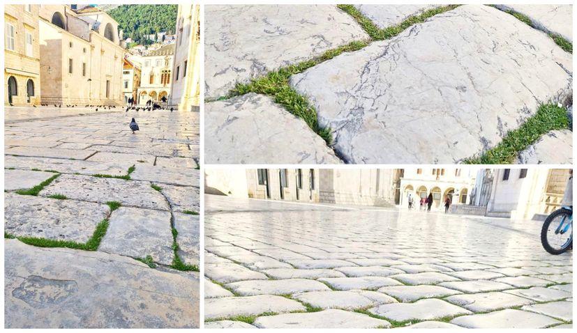 PHOTOS: Grass grows on Dubrovnik's famous stone-paved street Stradun