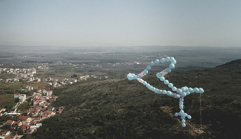 VIDEO: Large rosary balloon released with a prayer above Medjugorje