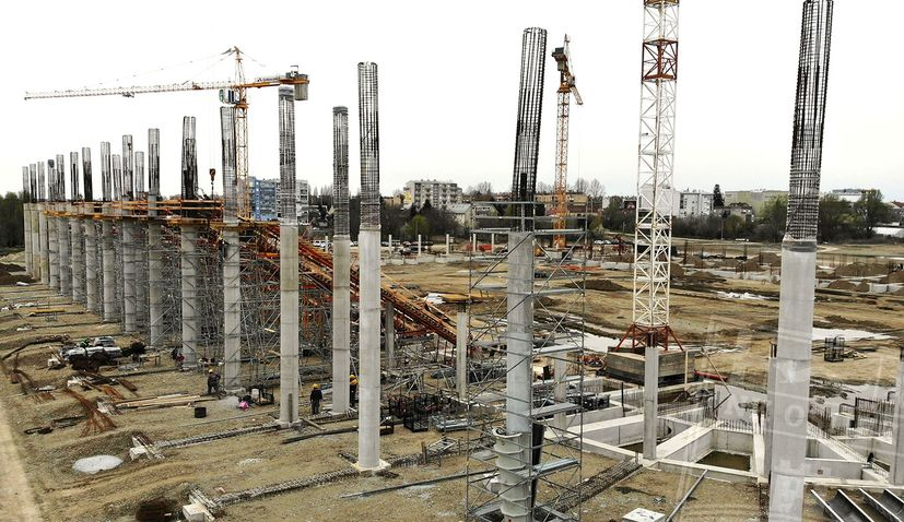 VIDEO: New stadium in Osijek taking shape as construction continues