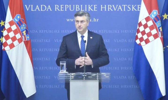 Croatian PM: Decisions on reactivation of some economic branches to be made this week