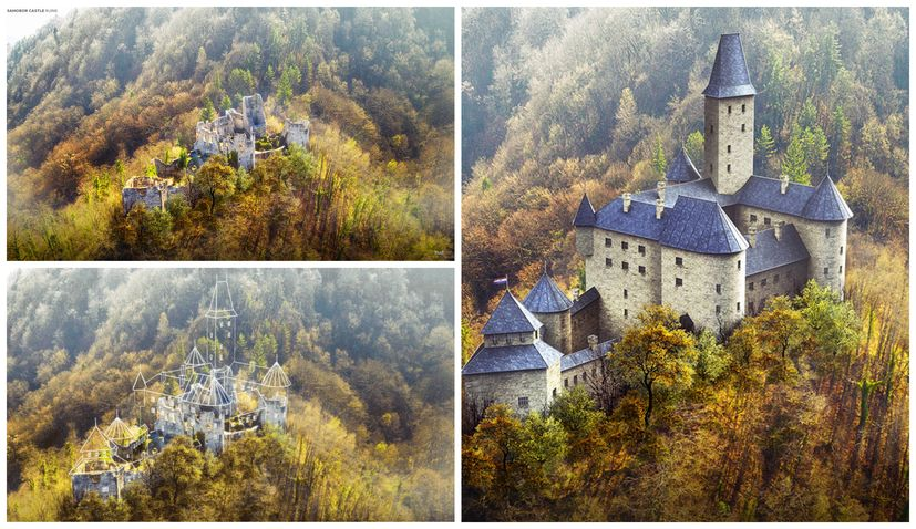 Digital wizardry restores Samobor Castle in Croatia to its former glory