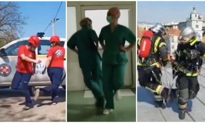 VIDEO: Croatian nurses, firefighters, rescue service accept dance challenge