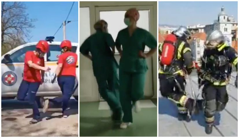 VIDEO: Croatian nurses, firefighters, rescue service accept dance challenge