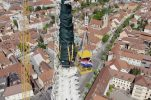 VIDEO: Croatian Army films historic removal of Zagreb Cathedral spire from the air