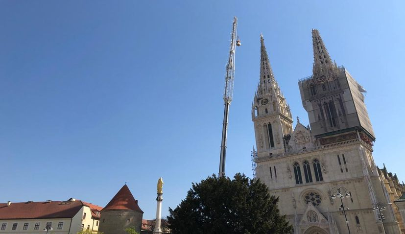 Part of north spire on Zagreb Cathedral to be knocked down