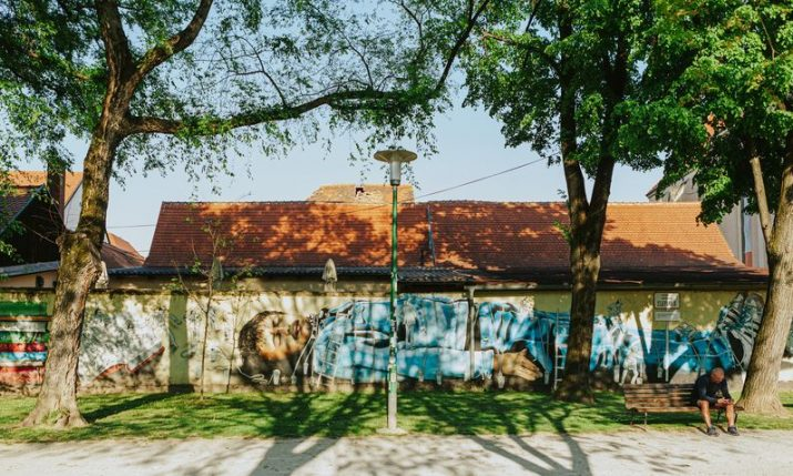 PHOTOS: Hundreds of metres of murals makeover Zagreb's Opatovina Park