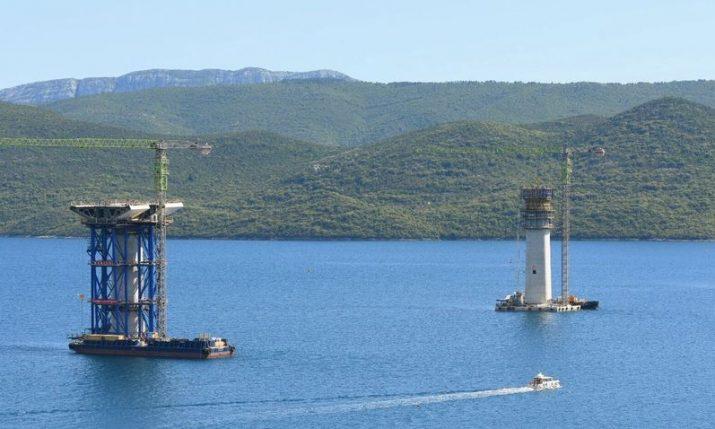 Peljesac Bridge will ensure Croatia's territorial connectivity forever, PM says during site tour