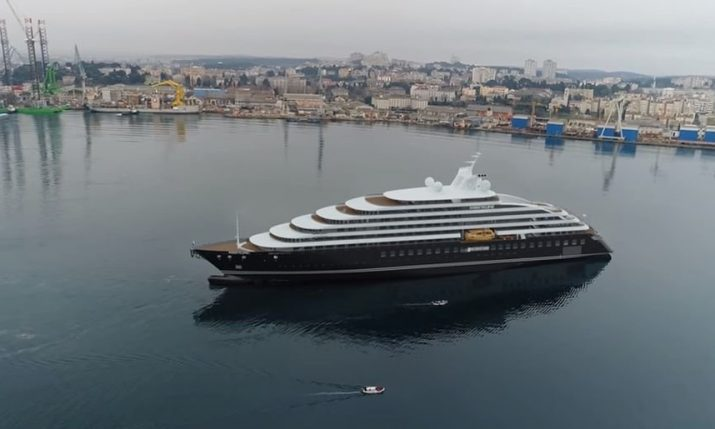 "World's first discovery yacht ""Scenic Eclipse"" berthed in Rijeka until pandemic ends"