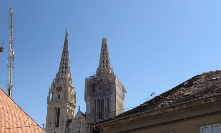 Culture minister inspects Zagreb Cathedral with Cardinal Bozanic