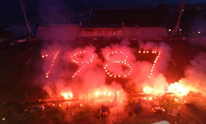 Rijeka's ultras Armada celebrate birthday in true Croatian style