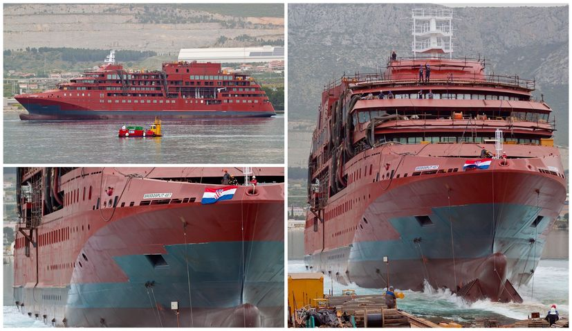 PHOTOS: €106 million polar expedition ship launched in Split