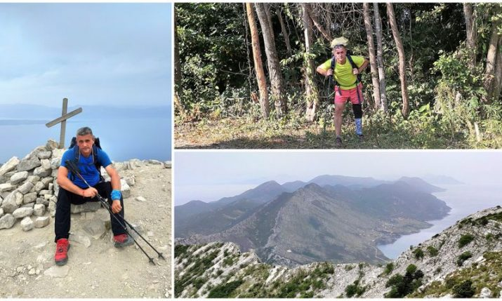 PHOTOS: First Croat with a prosthetic aid to trek the 1100 km Via Adriatica Trail