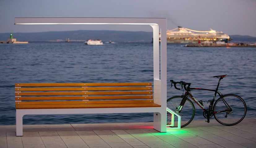 Croatian smart bike bench stand to go on Auckland waterfront in New Zealand