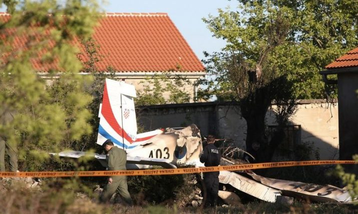 Croatian military trainer aircraft crashes near Zadar, two killed