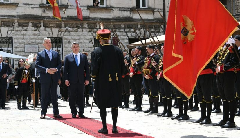 Croatian president meets with Montenegrin PM