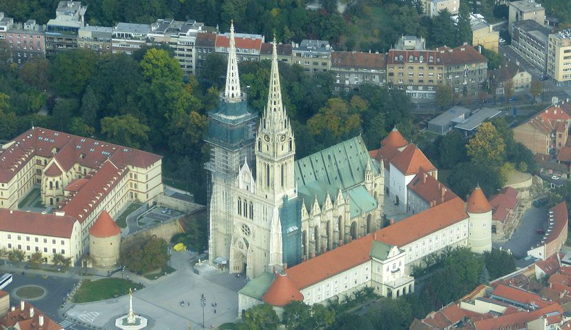 Zagreb Cathedral exhibition set up in the city's library