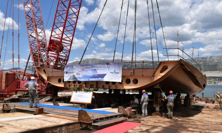 PHOTOS: Keel laying ceremony at Croatia's  Brodosplit dock for new polar cruise ship