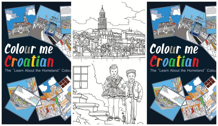 """Colour Me Croatian: The """"Learn About the Homeland"""" colouring book"""
