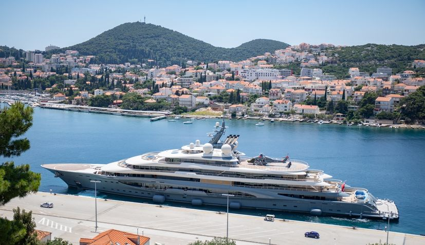 World's largest superyacht available for charter arrives in Croatia for the first time