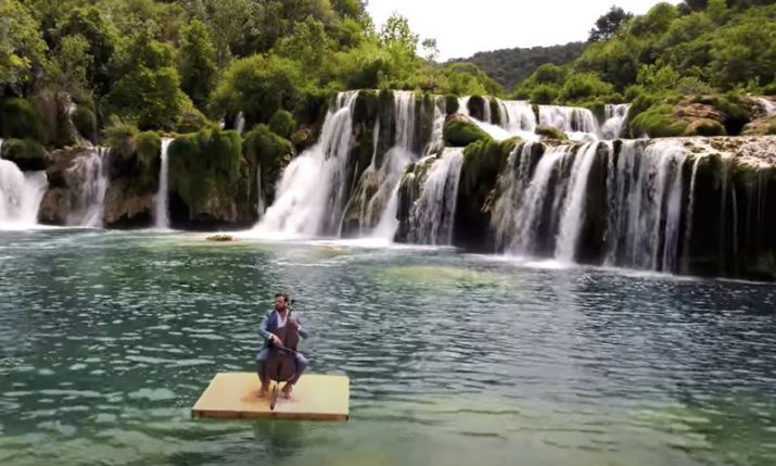 VIDEO: Hauser gives birthday performance afloat in Krka National Park