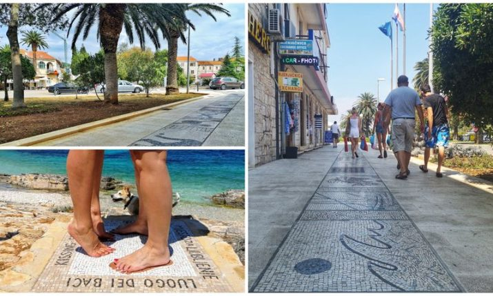 World's longest mosaic promenade project continues in Vela Luka on Korcula