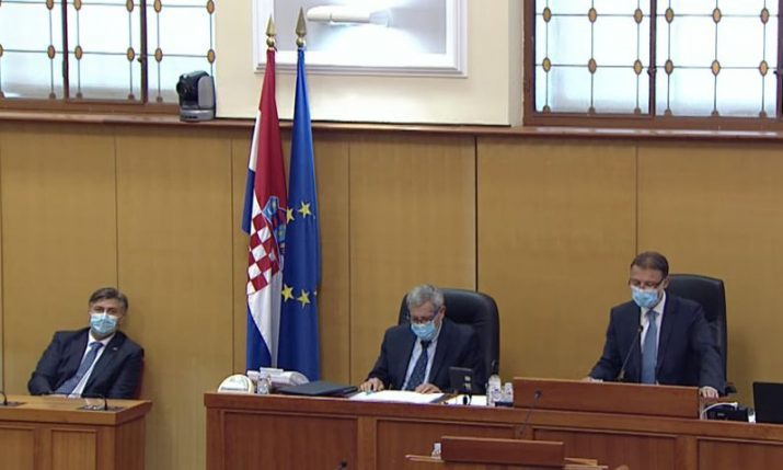 The 10th Croatian parliament constituted in Zagreb