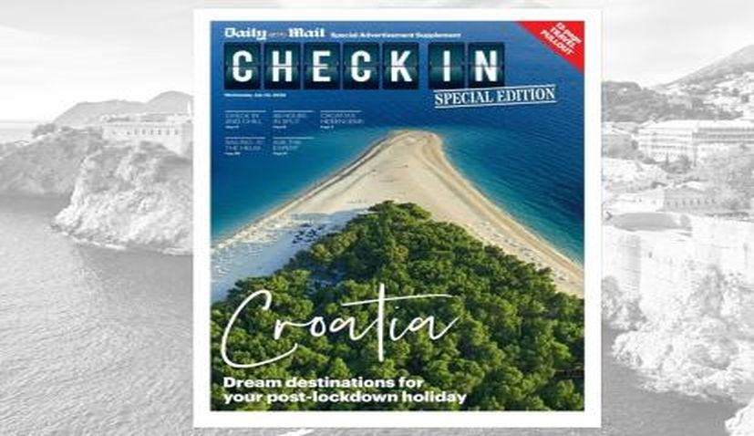 Daily Mail travel section focuses on Croatia as 'dream destination'