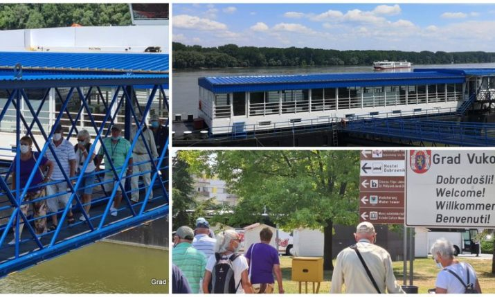 First river cruise boat this summer docks in Vukovar
