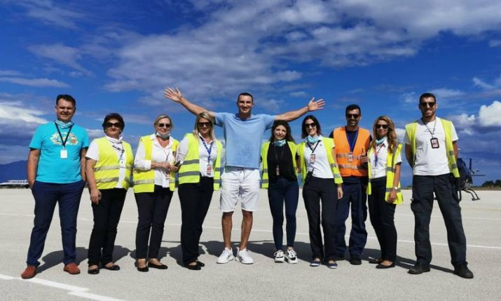 Boxing great Wladimir Klitschko arrives in Croatia for summer holiday