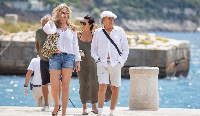 PHOTO: Rod Stewart holidaying on the Croatian coast
